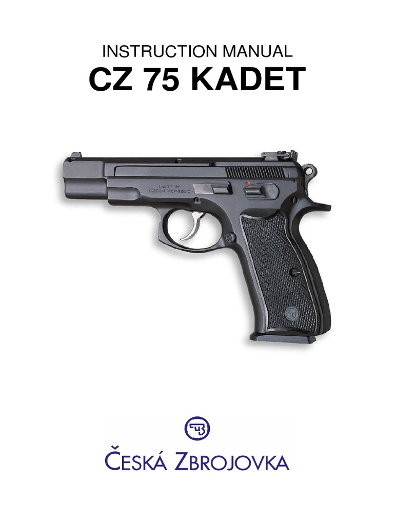 CZ 75b kadet pdf | Handgun | Cartridge (Firearms)