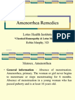 Amenorrhoea  Remedies