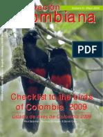 Aves de Colombia 2009