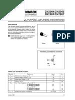 2N290X Data Sheet