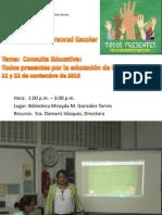 Orientación a personal escolar consulta todos por la educacion de pr.ppt