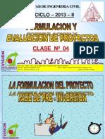 Clase 4 Pre Inversion Evaluacion y Viabilidad 2013 i