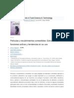 Películas y recubrimientos comestibles Estructuras funciones activas y tendencias en su uso YINA
