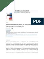 Sensory estimación de la vida útil una revisión de los actuales enfoques metodológicos