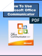 How to use MS Office Communicator
