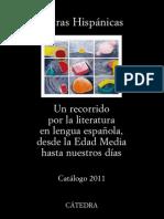 Cátedra - Letras Hispánicas - Catálogo 2011