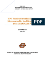 GPS Receiver Interfacing With Microcontroller And Displaying Data On LCD And PC (MAE 5483 Term Final Project Report)