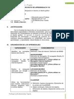 PROYECTO DE APRENDIZAJE N° 03 - TERCERO