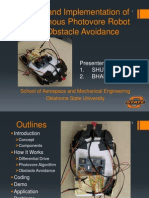 Design and Implementation of Autonomous Photovore Robot with Obstacle Avoidance (MAE 4733 Term Final Project Presentation)