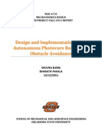 Design and Implementation of Autonomous Photovore Robot with Obstacle Avoidance (MAE 4733 Term Final Project Report)