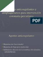 Agentes antitrombòticos y antiplaquetarios para intervención coronaria percutànea (1)