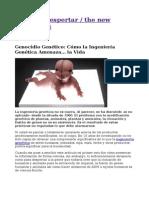 Genocidio Genético_ Cómo la Ingeniería Genética Amenaza. la Vida