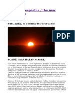 SunGazing, la Técnica de Mirar al Sol