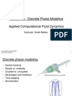 Discrete Phase Modeling CFD