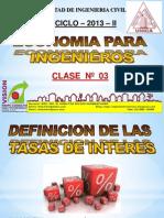 Clase 03 Economia Para Ing 2013 II