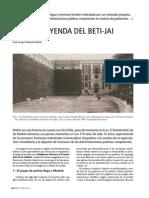 """""""La leyenda del Beti-Jai. El último frontón de Madrid"""" en la revista Madrid Histórico nº 48"""