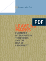 Leave No Marks - Enhanced Interrogation Techniques