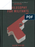 2012, Philosophy for Militants