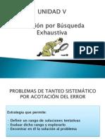 UNIDAD v. Solucion Por Busqueda Exhaustiva.