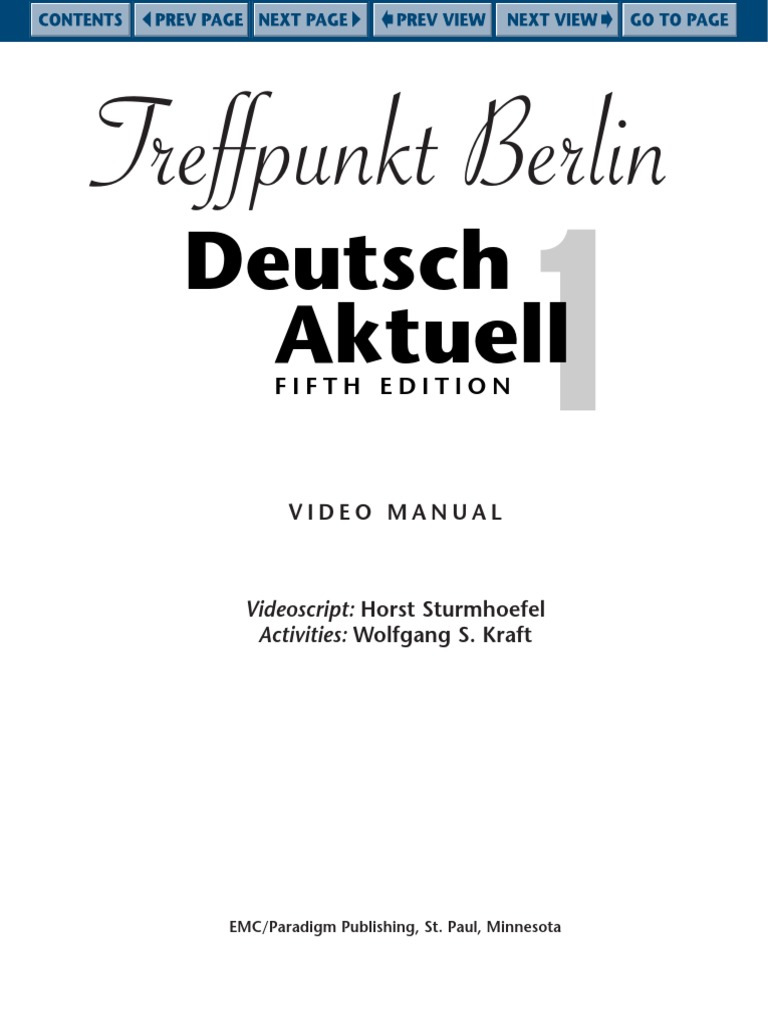 deutsch aktuell 1 answer key