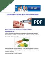 Tratamientos Naturales Para Controlar La Diabetes