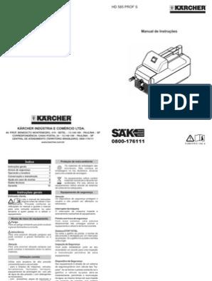 manual hidrolavadora karcher hd 585