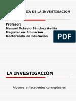 Metodologia clase 1  La investigacón, PROBLEMAS, ecuacion, fases, tipos