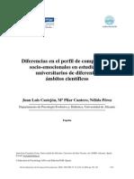 Diferencias en El Perfil de Competencias Socioemocionales (1)
