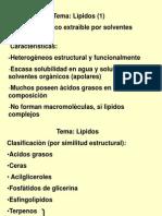 12 Lìpidos Clase 1(1º y 3º)Clasif, estruct. funciones