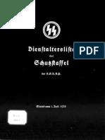 Reichsführer SS - Dienstaltersliste der Schutzstaffel der NSDAP 1935 (SS-Obergruppenführer - SS-Untersturmführer)