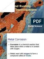 metals and rusting - investigation