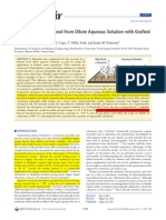 Adsorption of n-Butanol from Dilute Aqueous Solution with Grafted Calixarenes