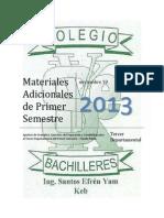 Materiales Adicionales Tercer Departamental Inglés I 2013