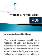 Writing a Formal Email