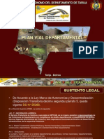 Plan Vial Departamental SEDECA TARIJA