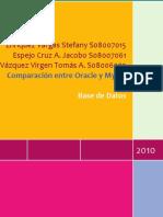 Comparativa de MySQL y Oraclo Database