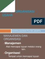Bentuk Organisasi Usaha