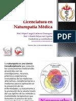 Presentacion Licenciatura Naturopatia 5 Noviembre 2013