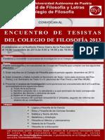ENCUENTRO DE TESISTAS DEL COLEGIO DE FILOSOFÍA 2013 (2)