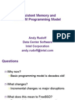 Persistent Memory and the NVM Programming Model