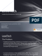 Developing New Products and Services (User Needs Presentation_LeadTech )