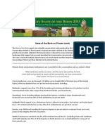 2013 State Of The Birds  Factsheet