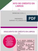 DESCUENTO DE CRÉDITO EN LIBROS