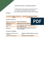 Instrucciones Para Postularte a La Oferta de Empleo