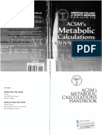 ACSM Metabolic Calculation