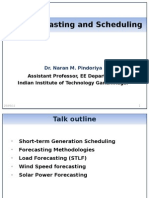 Scheduling and Forecasting