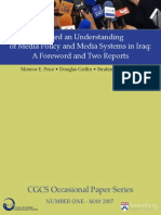 Toward an Understanding of Media Policy and Media Systems in Iraq,