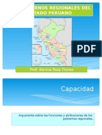 Los Gobiernos Regionales Del Estado Peruano