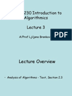 Lecture3 - Analysis and Recurrence Relationships