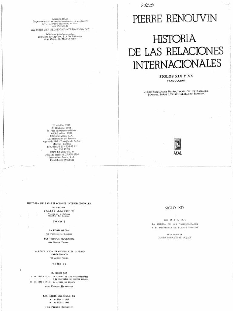 Renouvin - Historia de Las Relaciones Internacionales - Tomo II